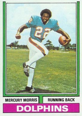 1974 Topps Mercury Morris #170 Football Card