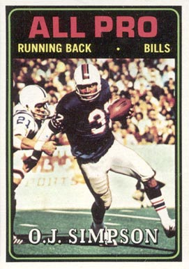1974 Topps O.J. Simpson #130 Football Card