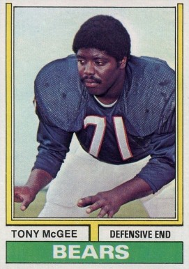 1974 Topps Tony Mcgee #97 Football Card