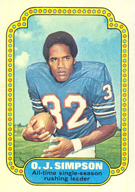 1974 Topps O.J. Simpson #1 Football Card