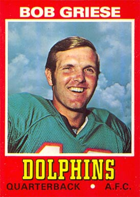1974 Wonder Bread Bob Griese #8 Football Card