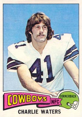 1975 Topps Charlie Waters #59 Football Card