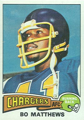 1975 Topps Bo Mathews #486 Football Card