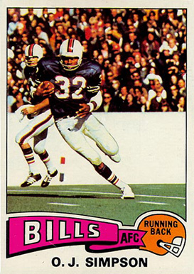 1975 Topps O.J. Simpson #500 Football Card
