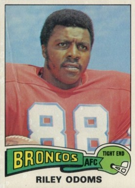 1975 Topps Riley Odoms #470 Football Card
