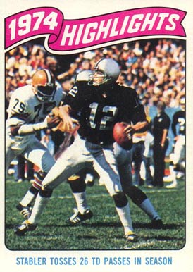 1975 Topps Ken Stabler #458 Football Card