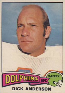 1975 Topps Dick Anderson #440 Football Card