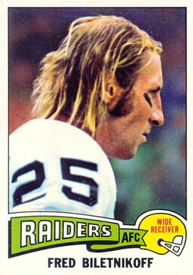 1975 Topps Fred Biletnikoff #405 Football Card