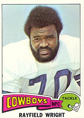 1975 Topps Rayfield Wright #402 Football Card