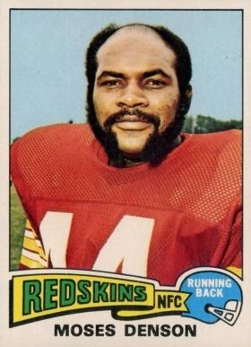 1975 Topps Moses Denson #392 Football Card