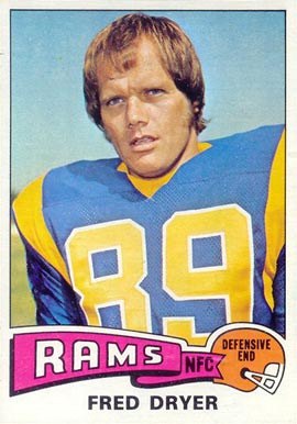 1975 Topps Fred Dryer #312 Football Card