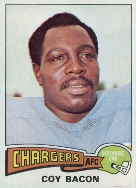 1975 Topps Coy Bacon #284 Football Card