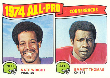 1975 Topps Mate Wright #220 Football Card