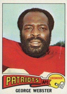 1975 Topps George Webster #186 Football Card