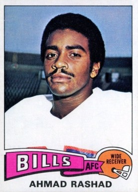 1975 Topps Ahmad Rashad #115 Football Card