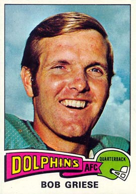 1975 Topps Bob Griese #100 Football Card