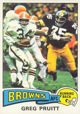 1975 Topps Greg Pruitt #49 Football Card