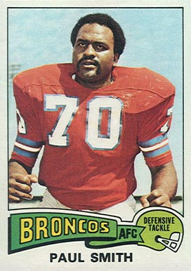 1975 Topps Paul Smith #45 Football Card