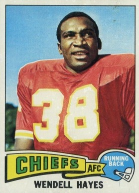 1975 Topps Wendell Hayes #43 Football Card