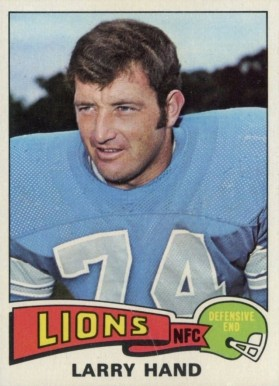 1975 Topps Larry Hand #42 Football Card