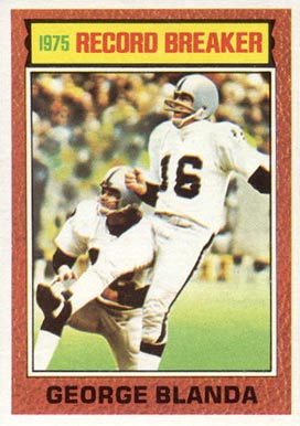 1976 Topps George Blanda #1 Football Card