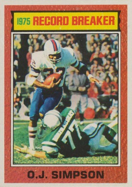 1976 Topps O.J. Simpson #6 Football Card