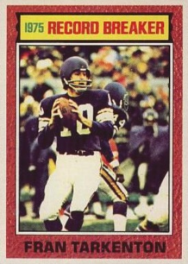 1976 Topps Fran Tarkenton #7 Football Card