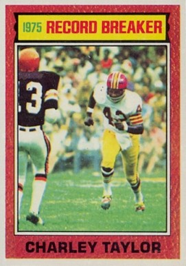 1976 Topps Charley Taylor #8 Football Card