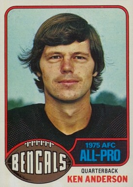 1976 Topps Ken Anderson #10 Football Card