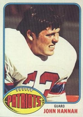 1976 Topps John Hannah #16 Football Card