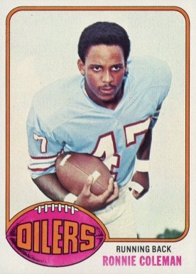 1976 Topps Ronnie Coleman #22 Football Card
