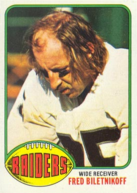1976 Topps Fred Biletnikoff #25 Football Card