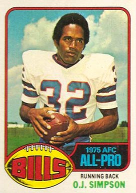 1976 Topps O.J. Simpson #300 Football Card