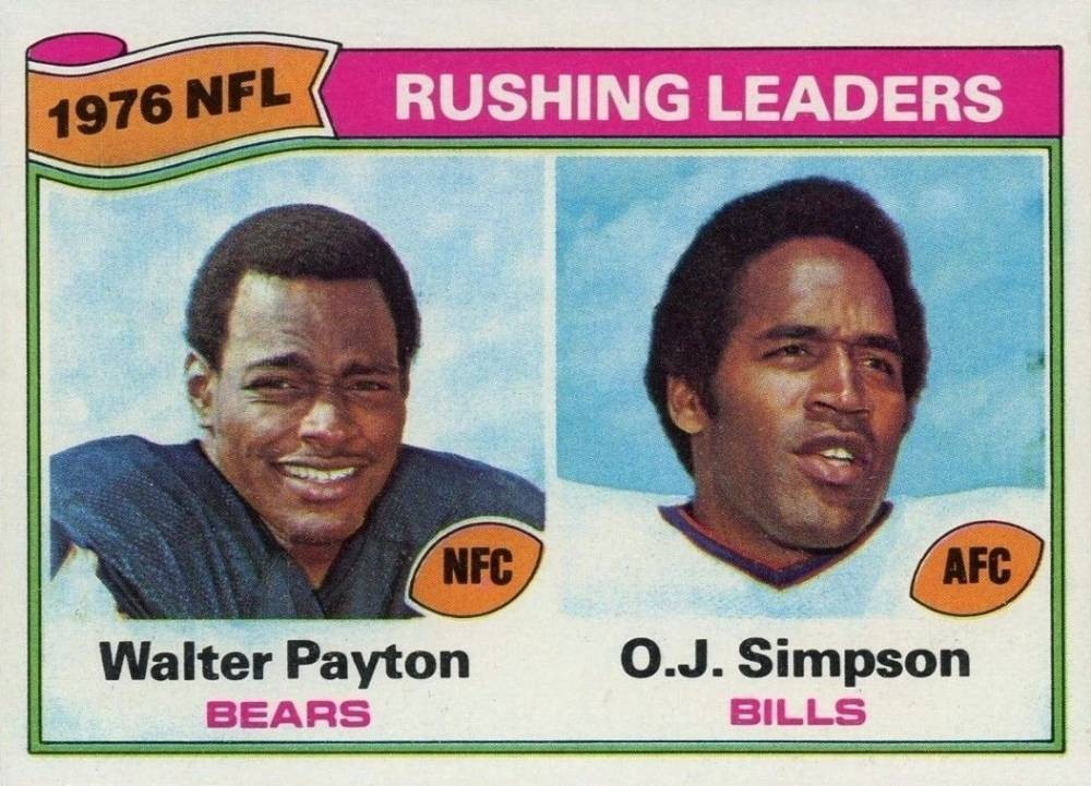 1977 Topps Rushing Leaders #3 Football Card