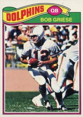 1977 Topps Bob Griese #515 Football Card
