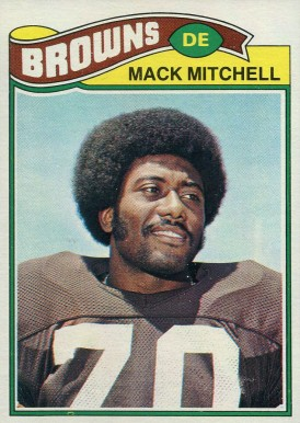 1977 Topps Mack Mitchell #393 Football Card