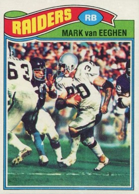 1977 Topps Mark Van Eeghen #354 Football Card