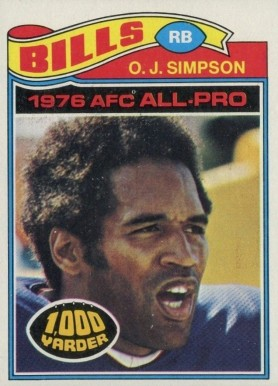 1977 Topps O.J. Simpson #100 Football Card