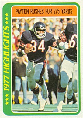 1978 Topps Walter Payton #3 Football Card