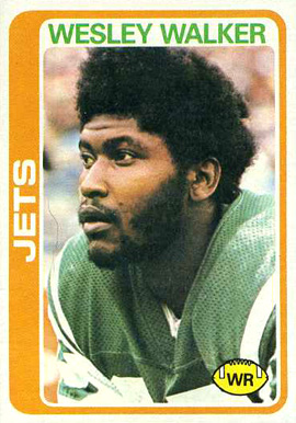 1978 Topps Wesley Walker #327 Football Card
