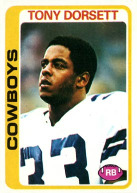 1978 Topps Tony Dorsett #315 Football Card