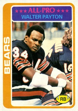 1978 Topps Walter Payton #200 Football Card