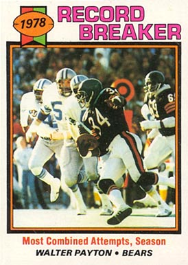 1979 Topps Walter Payton #335 Football Card