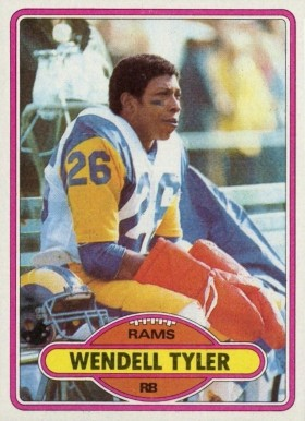1980 Topps Wendell Tyler #273 Football Card