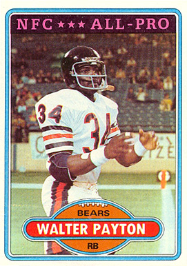 1980 Topps Walter Payton #160 Football Card