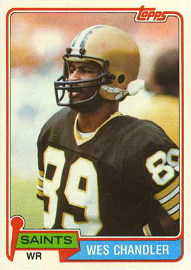 1981 Topps Wes Chandler #428 Football Card