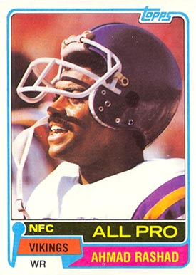 1981 Topps Ahmad Rashad #140 Football Card
