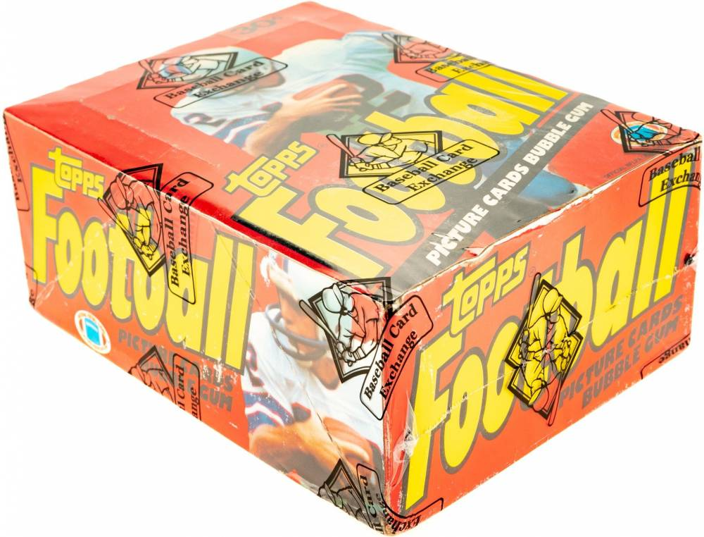 1981 Topps Wax Pack Box #WPB Football Card