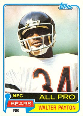 1981 Topps Walter Payton #400 Football Card