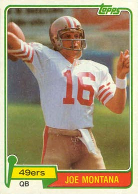 1981 Topps Joe Montana #216 Football Card